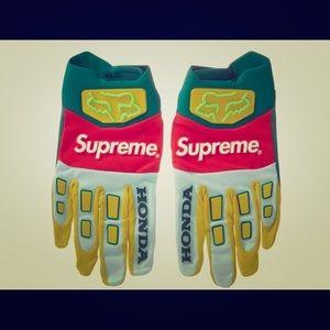 Supreme Honda Fox Racing Gloves (Moss) Size Small